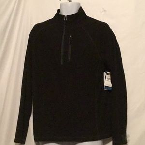 WHITE SIERRA MEN BLACK MOCK-NECK SWEATER SZ M
